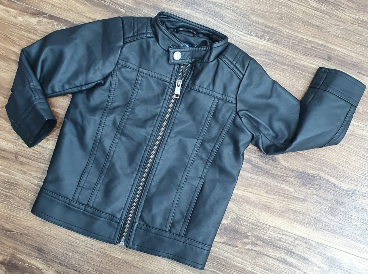 jaqueta de Couro Infantil Preta