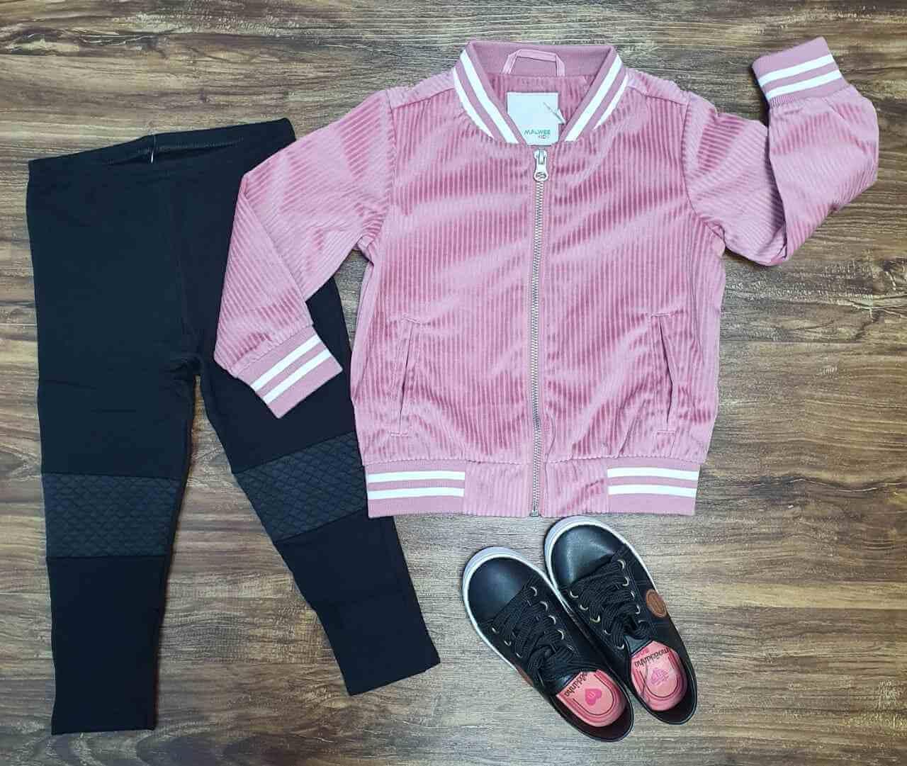 Jaqueta Veludo com Calça Infantil