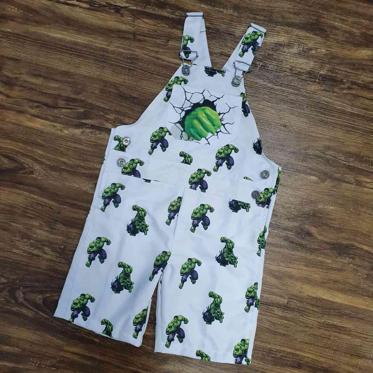 Jardineira Hulk Infantil