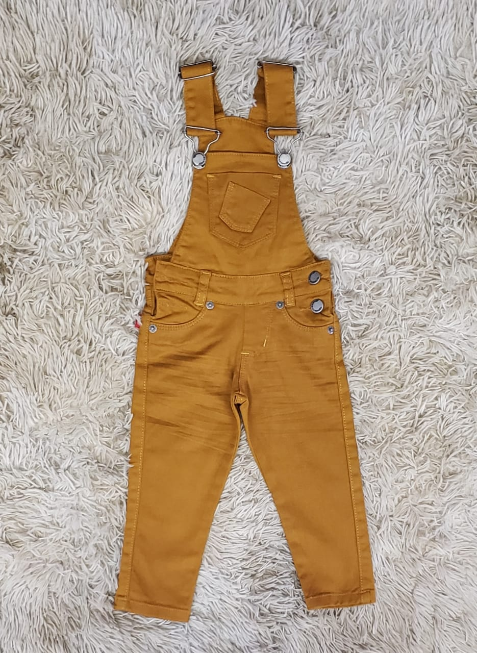 Jardineira Jeans de Calça Caramelo