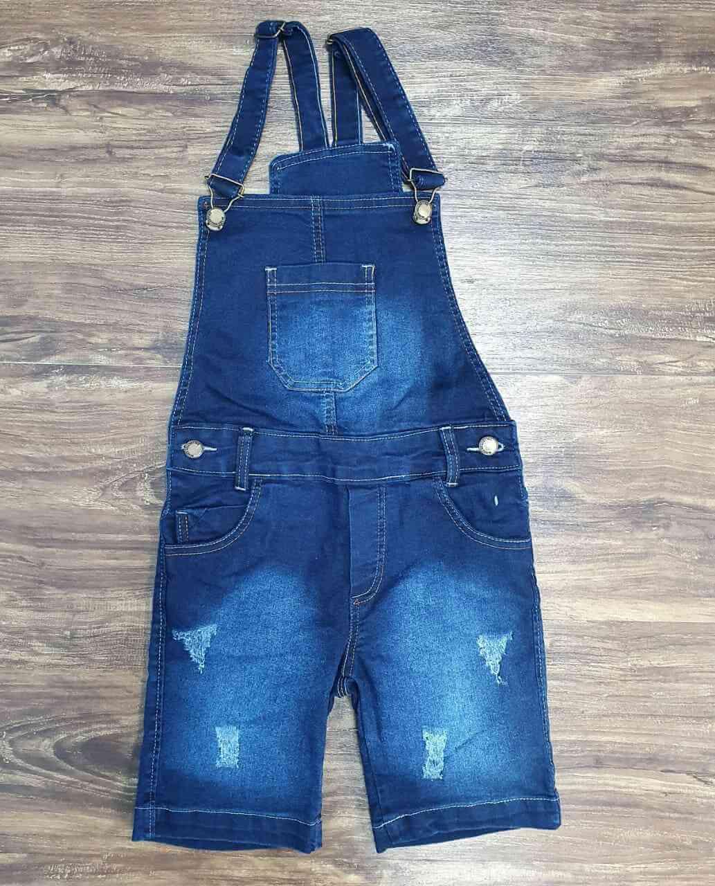 Jardineira Jeans Infantil
