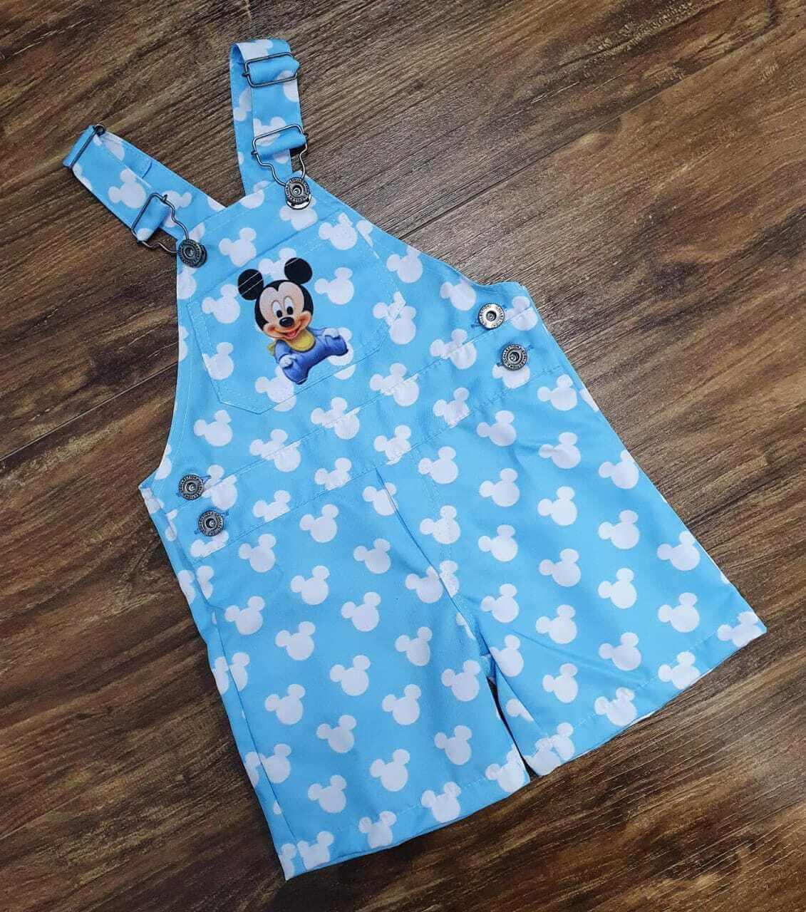Jardineira Mickey Baby Infantil