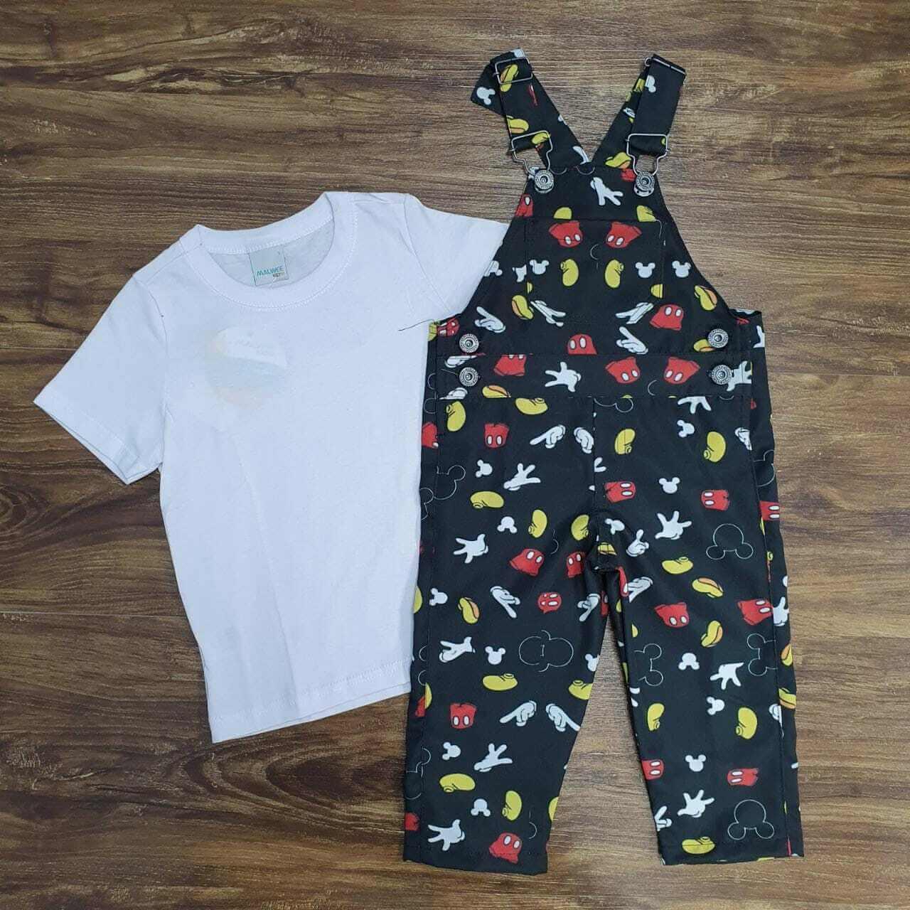 Look Calça Mickey Branco Infantil