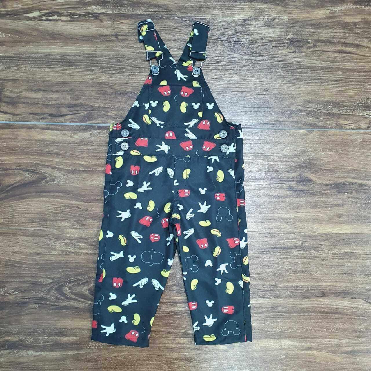 Jardineira Calça Mickey Preta Infantil