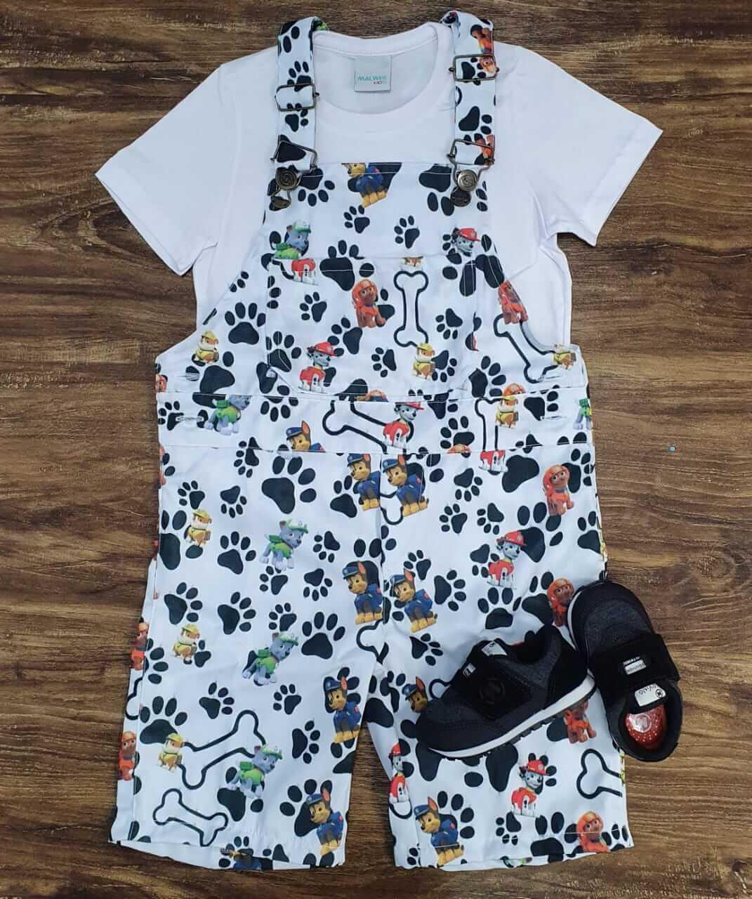 Look Branco Patrulha Canina Infantil