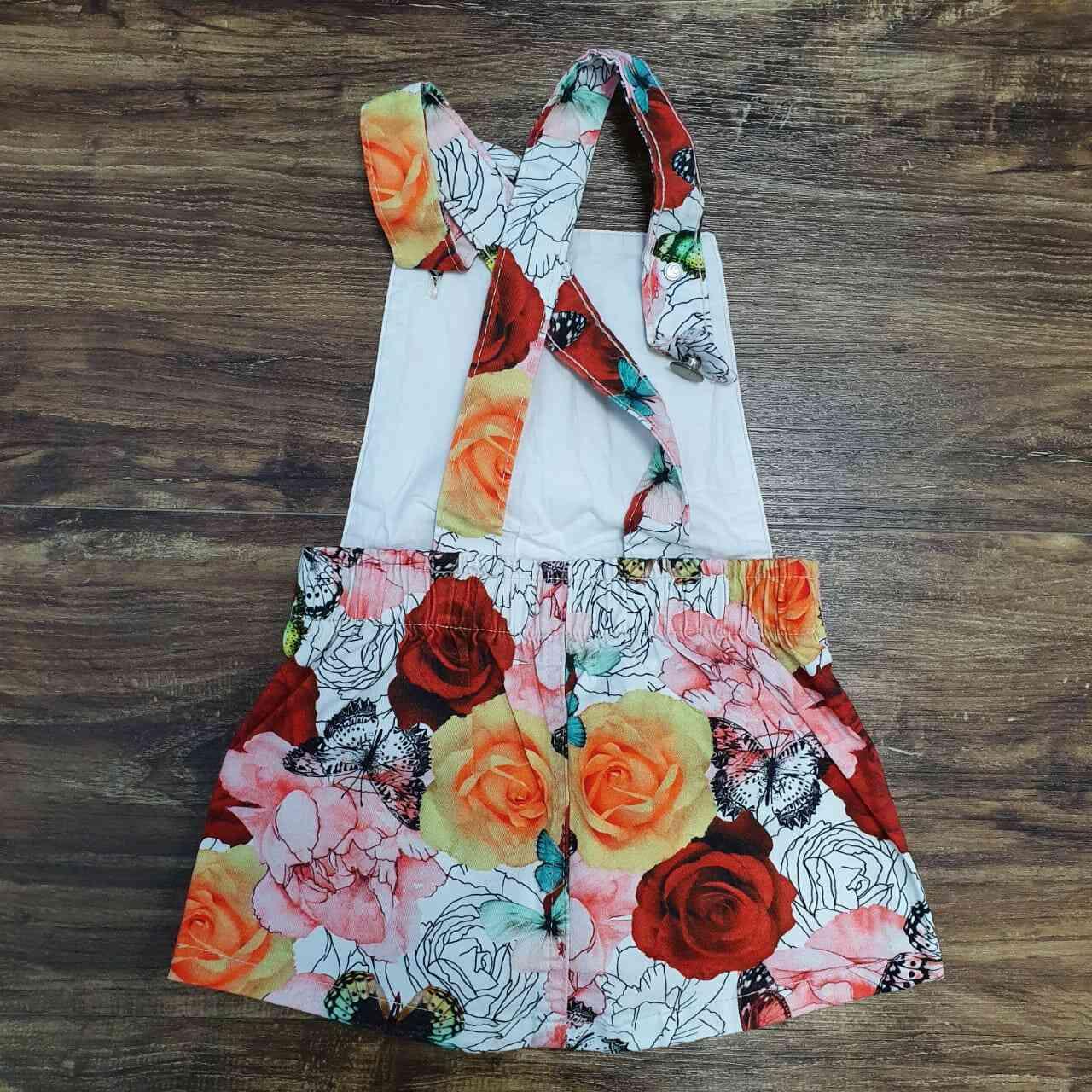 Jardineira Rosas Infantil