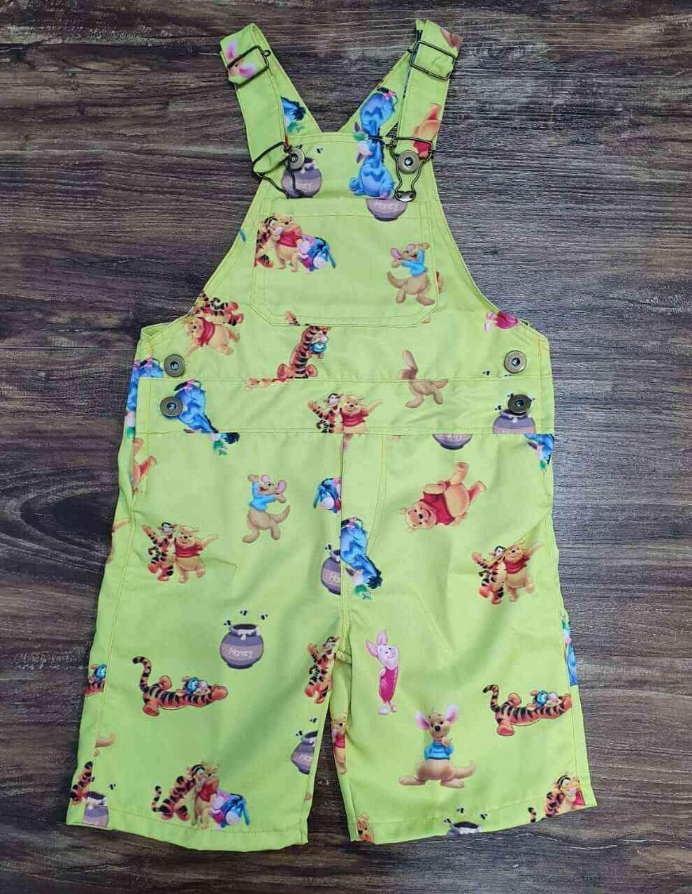 Jardineira Ursinho Pooh Infantil
