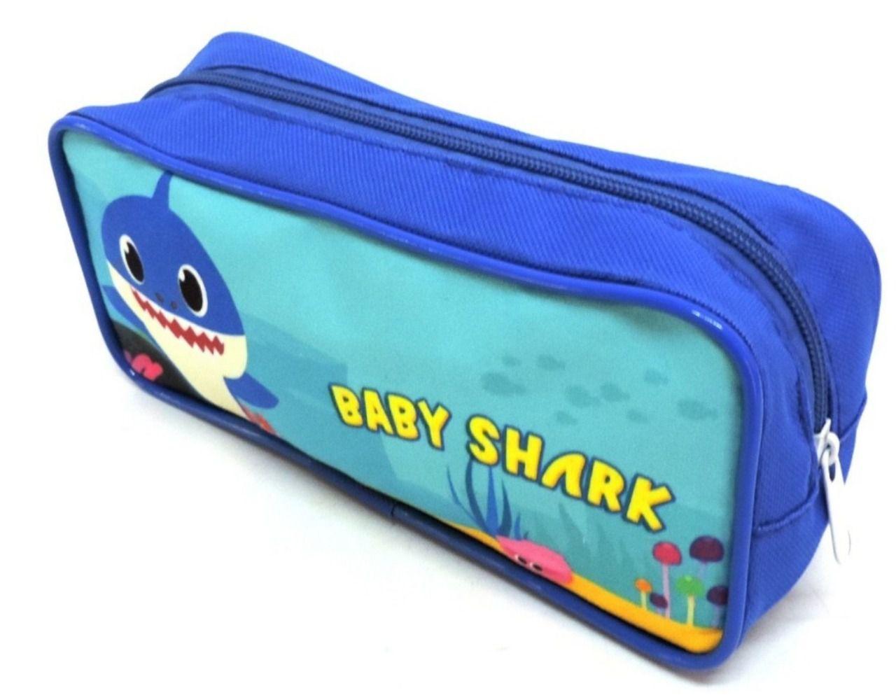 Kit Mochila Lancheira e Estojo Baby Shark
