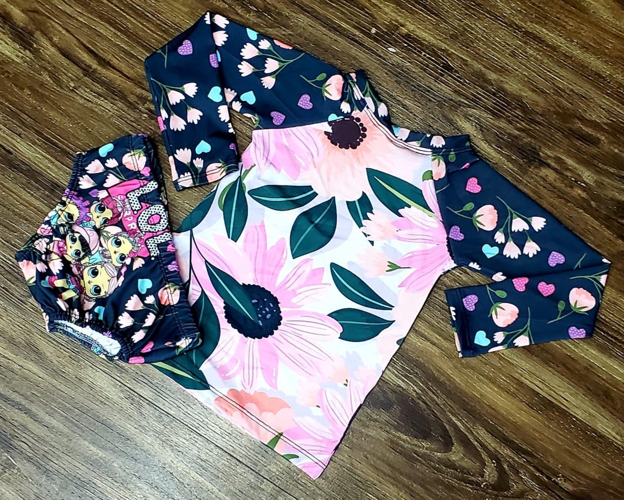 Kit Praia LOL - Calcinha e Camiseta UV