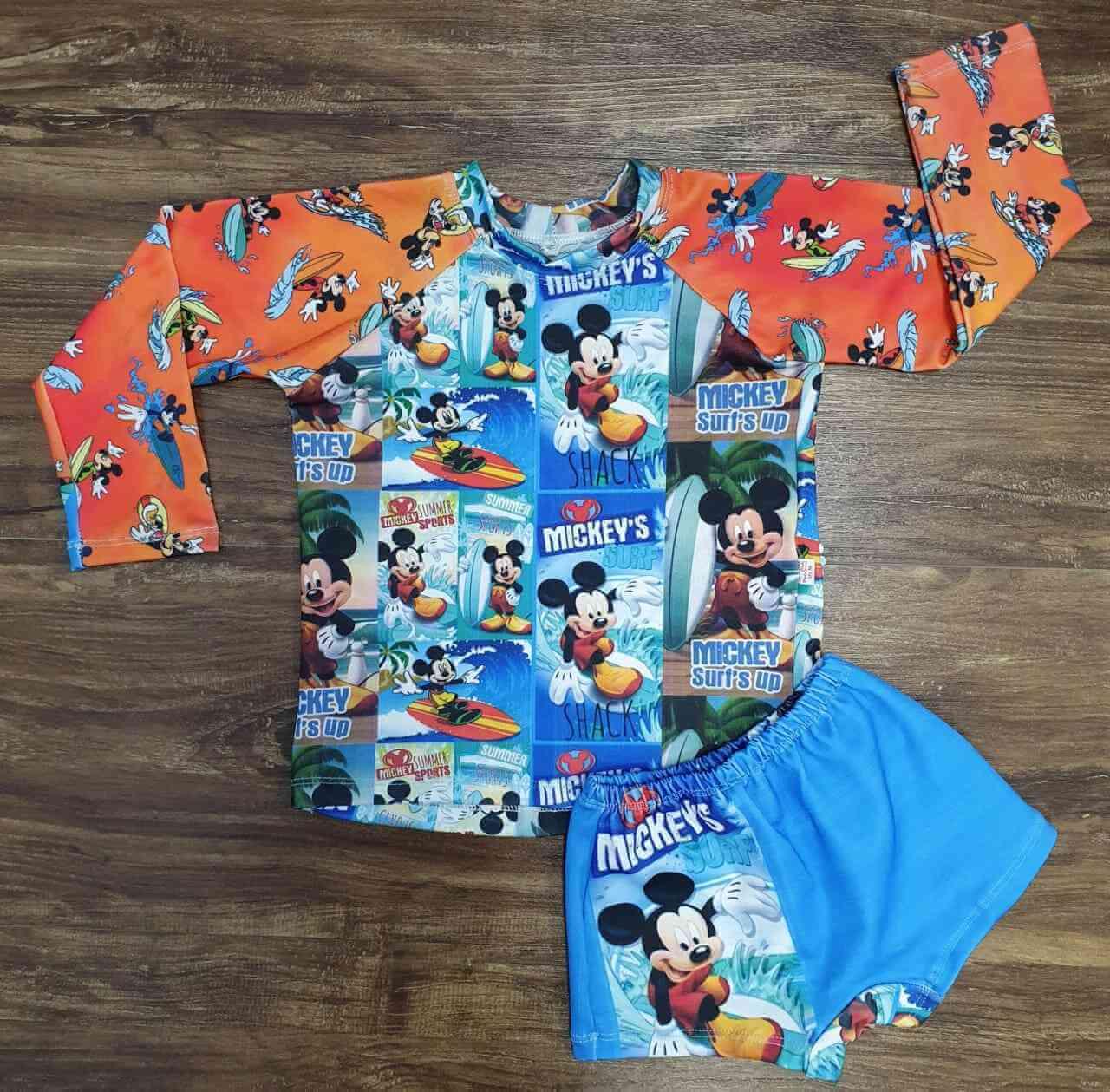Kit Praia Mickey Infantil
