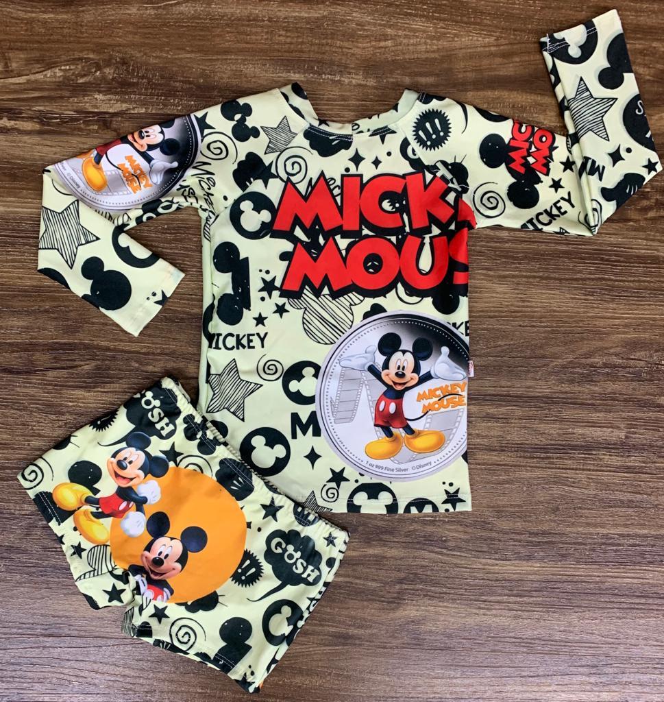 Kit Praia Mickey - Sunga e Camiseta UV