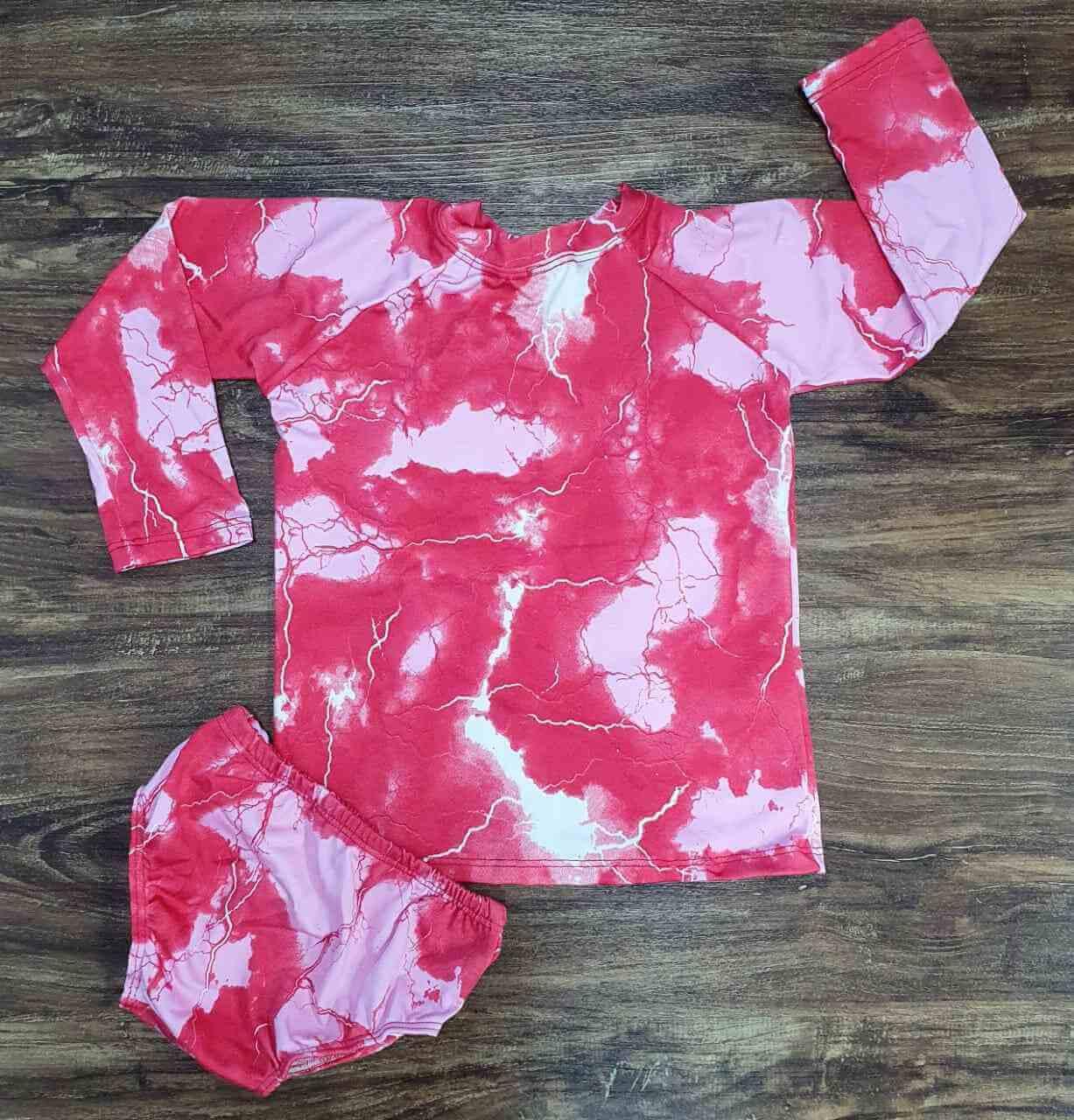 Kit Praia Tye Dye Pink Infantil