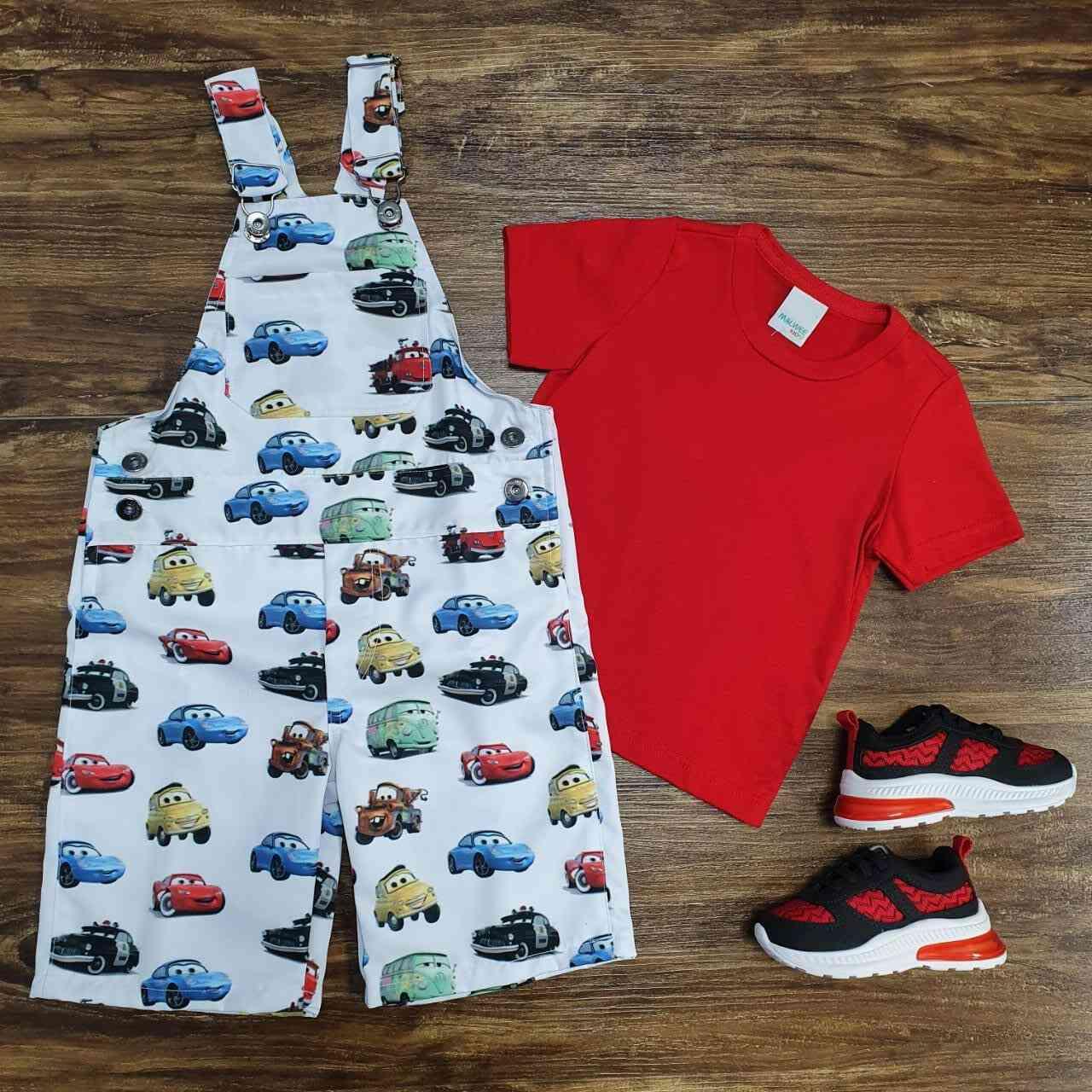 Look Carros Vermelho Infantil