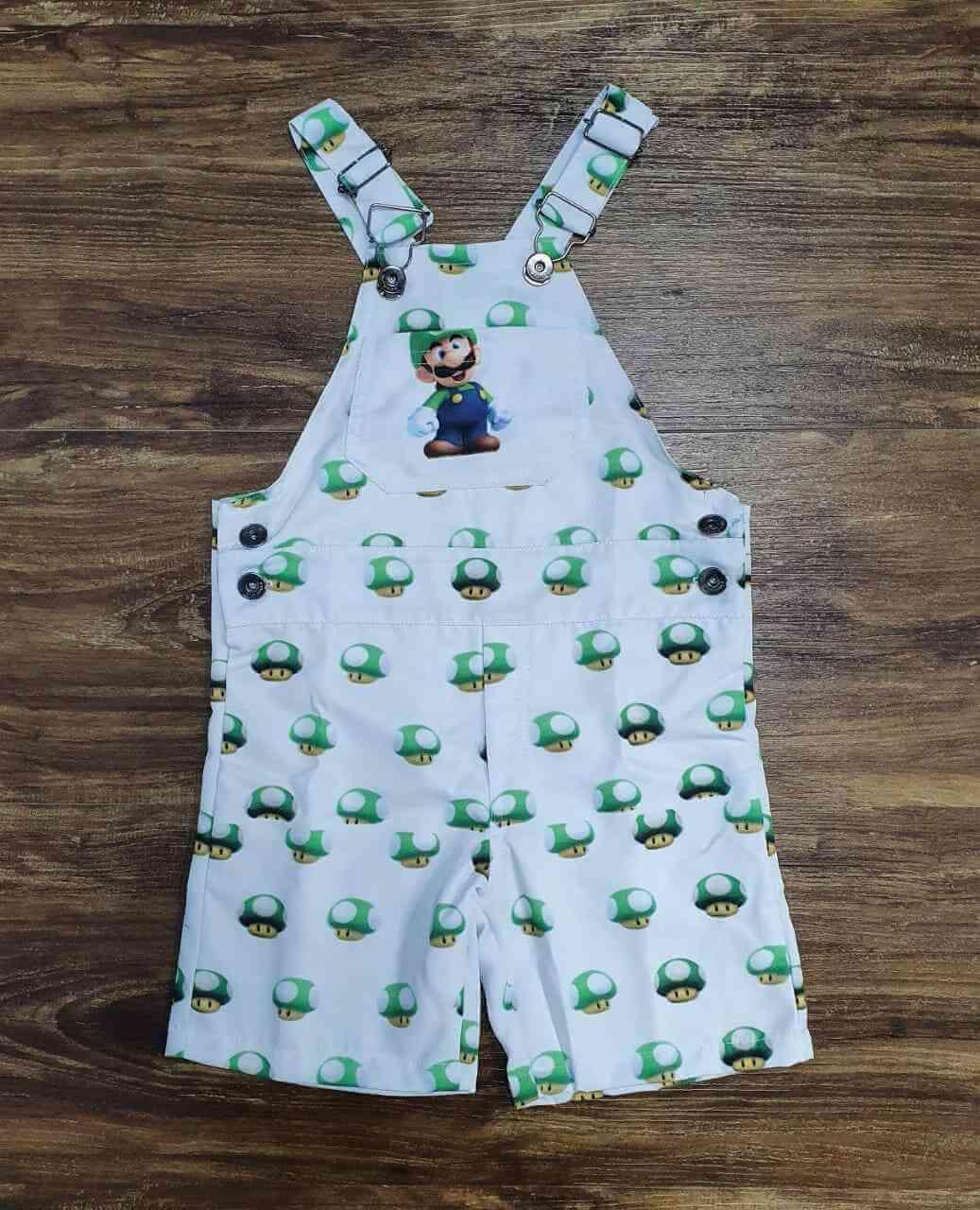 Look Luigi Verde e Branco Infantil