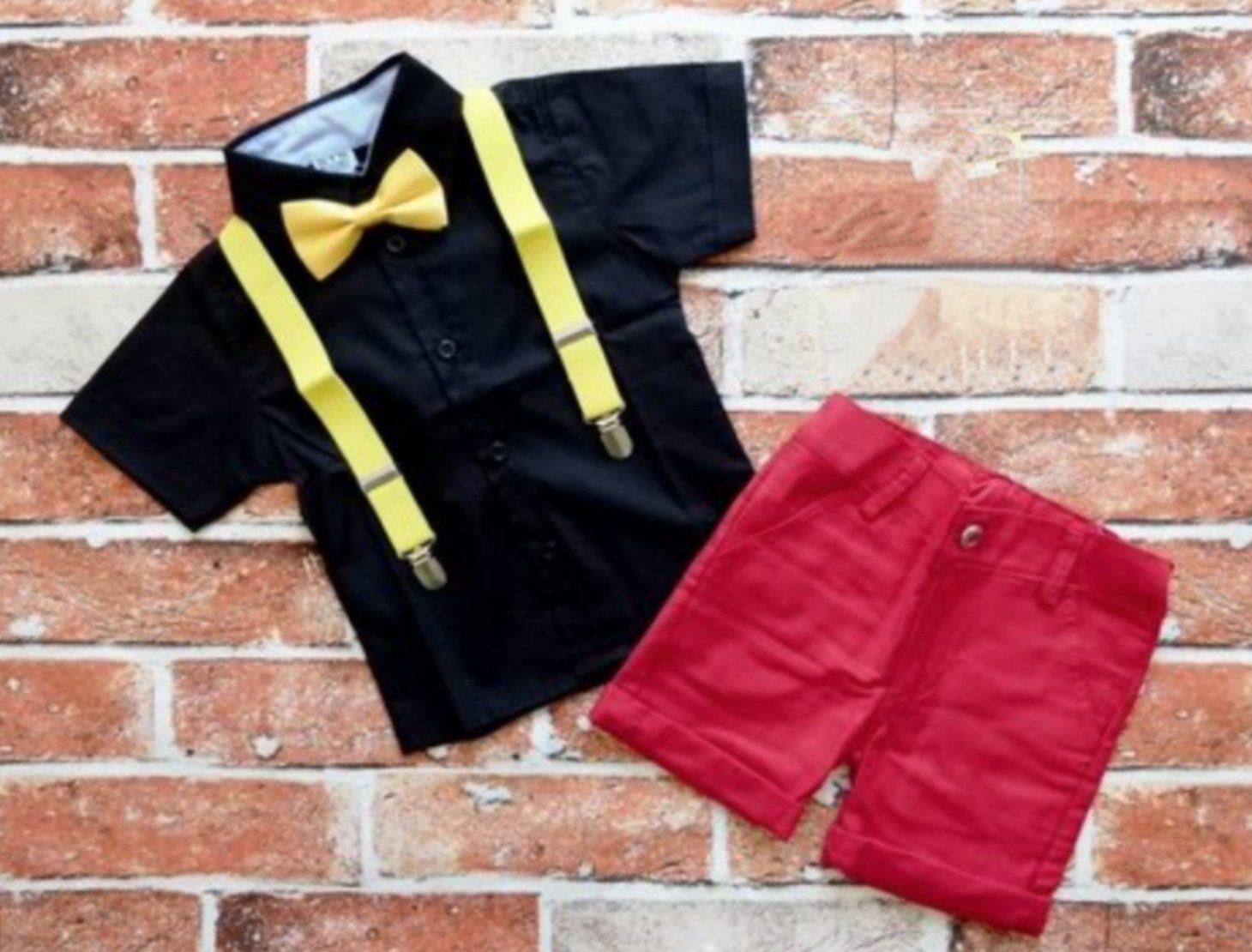 Conjunto Mickey Básico Preto e Vermelho Infantil