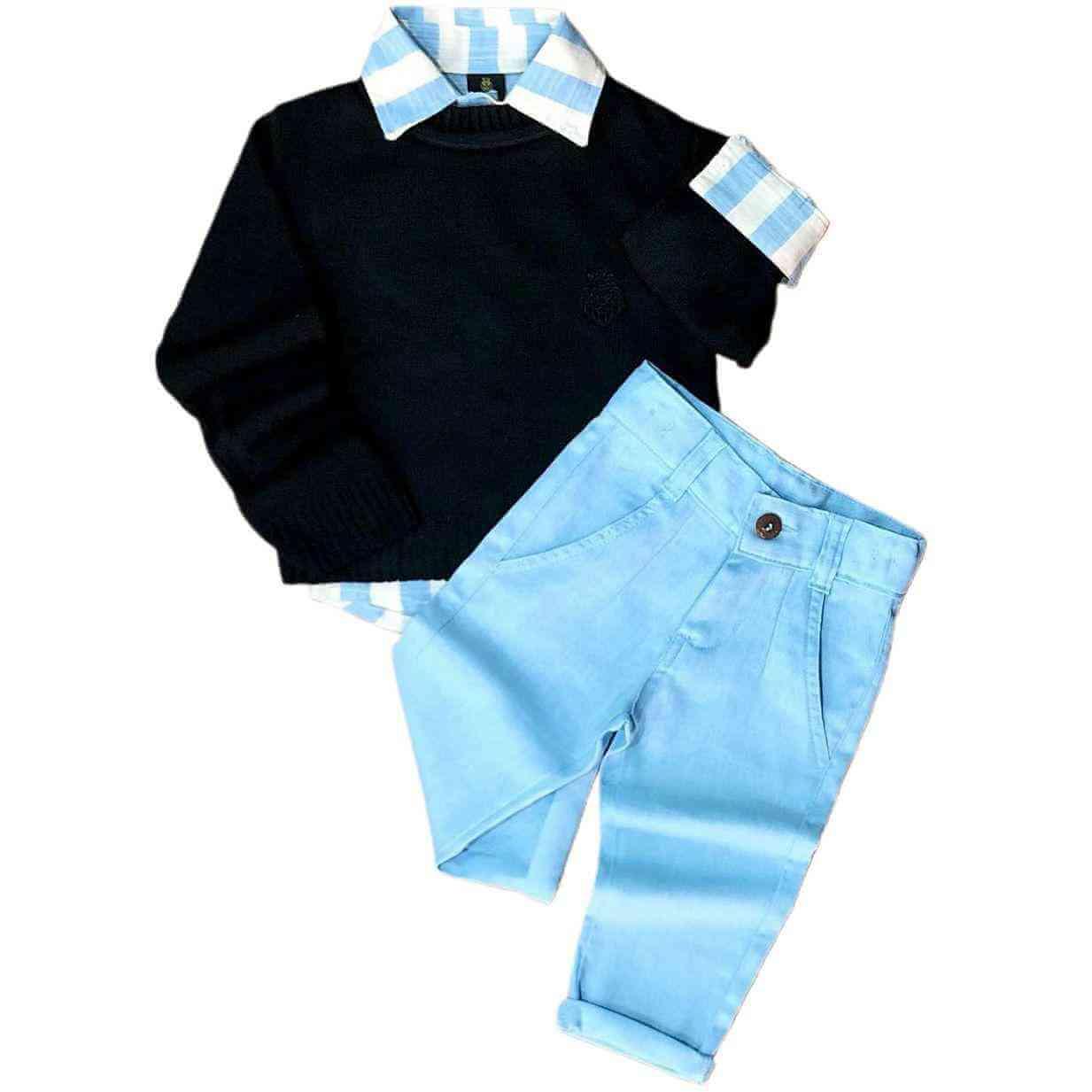 Look Social com Suéter e Calça Jeans Infantil