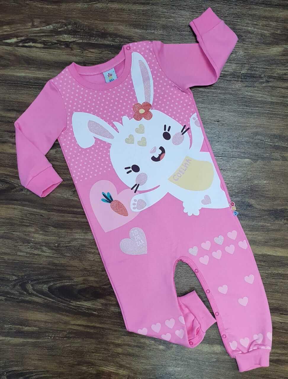 Macacão Longo Coelha Infantil