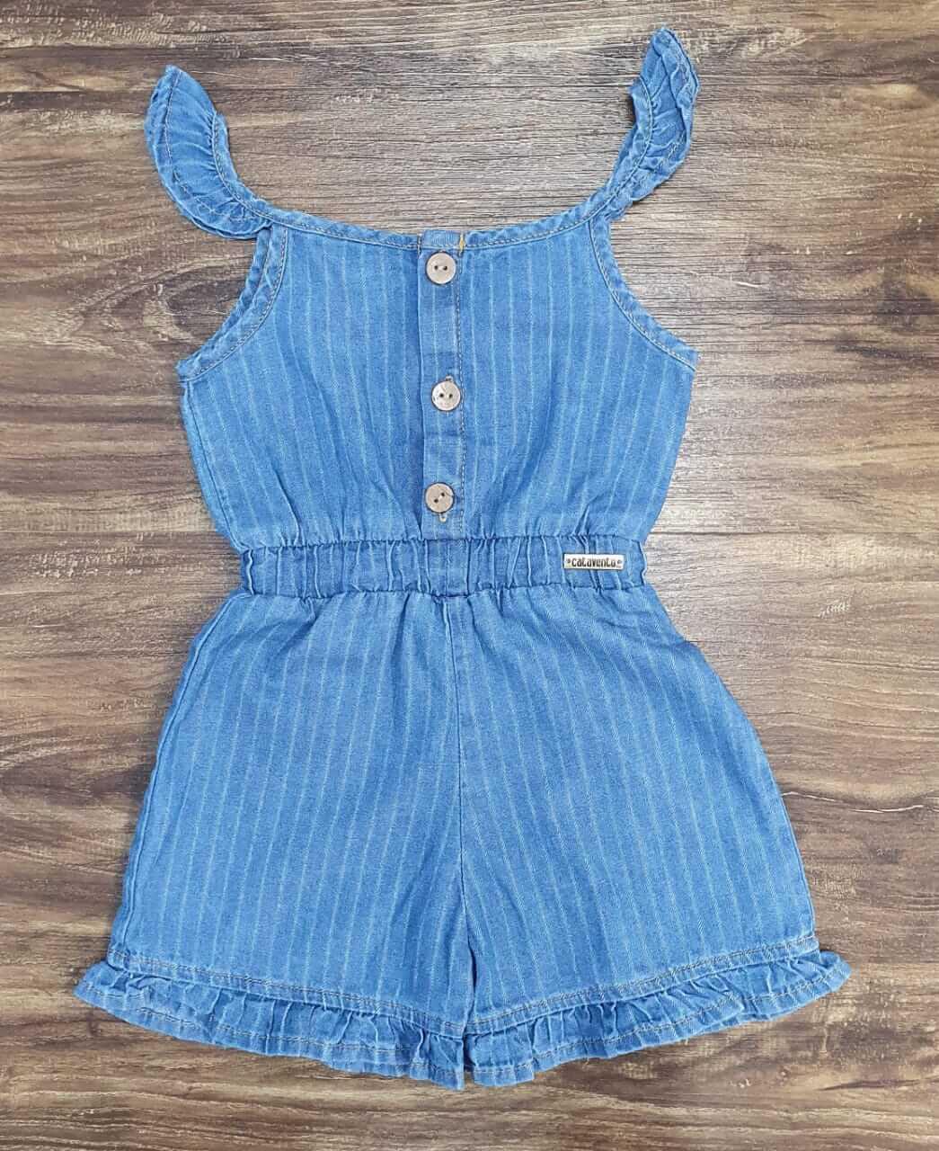 Macaquinho Jeans Infantil