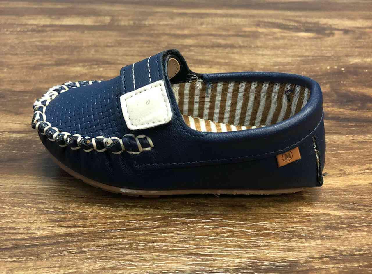 Mocassim Velcro Azul Marinho Infantil