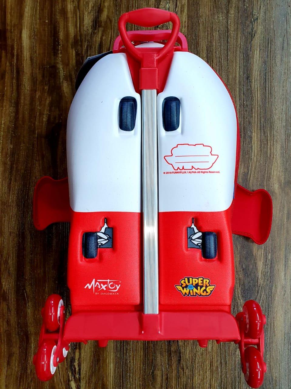 Mochila 3D Rodinhas e Lancheira Super Wings Infantil
