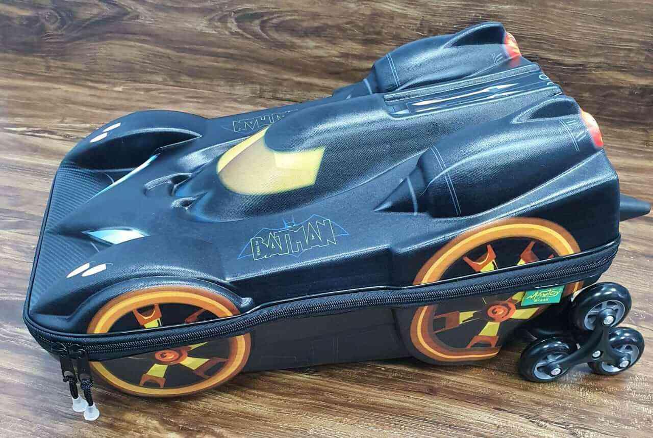 Mochila 3D com Rodinhase Batman Infantil