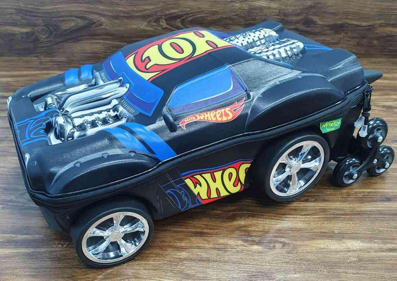 Mochila 3D com Rodinhase Hot Wheels Night Shifter Infantil