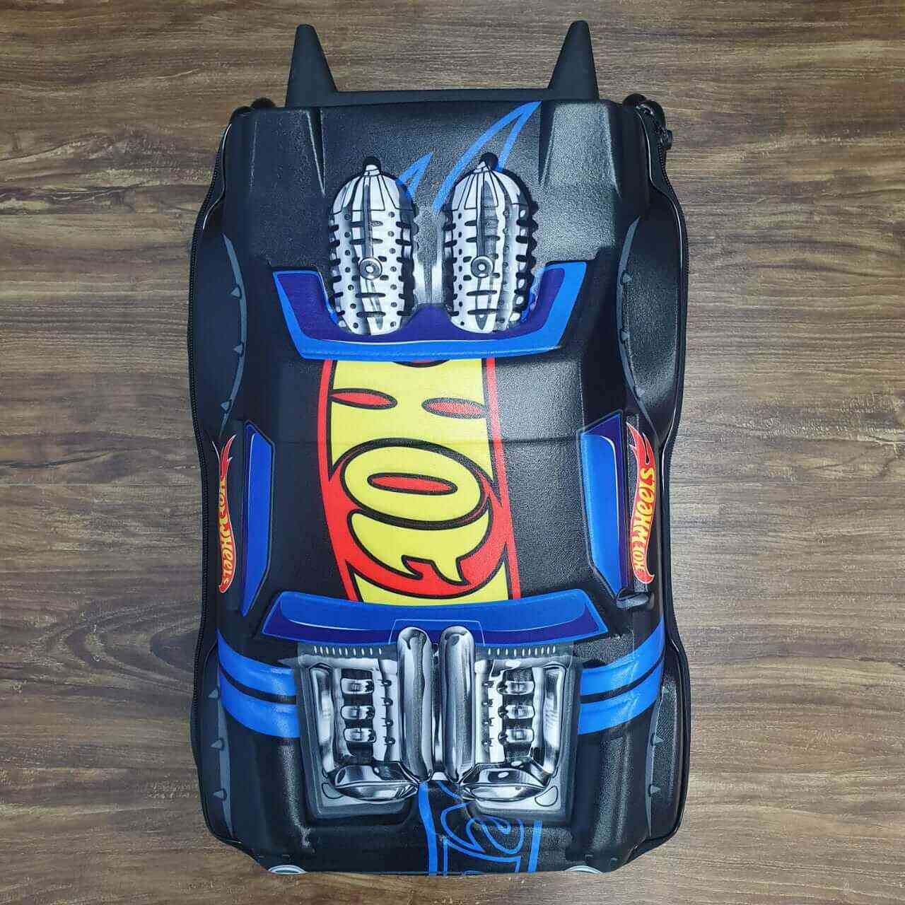 Mochila 3D com Rodinhase Hot Wheels Night Shifter Infantil