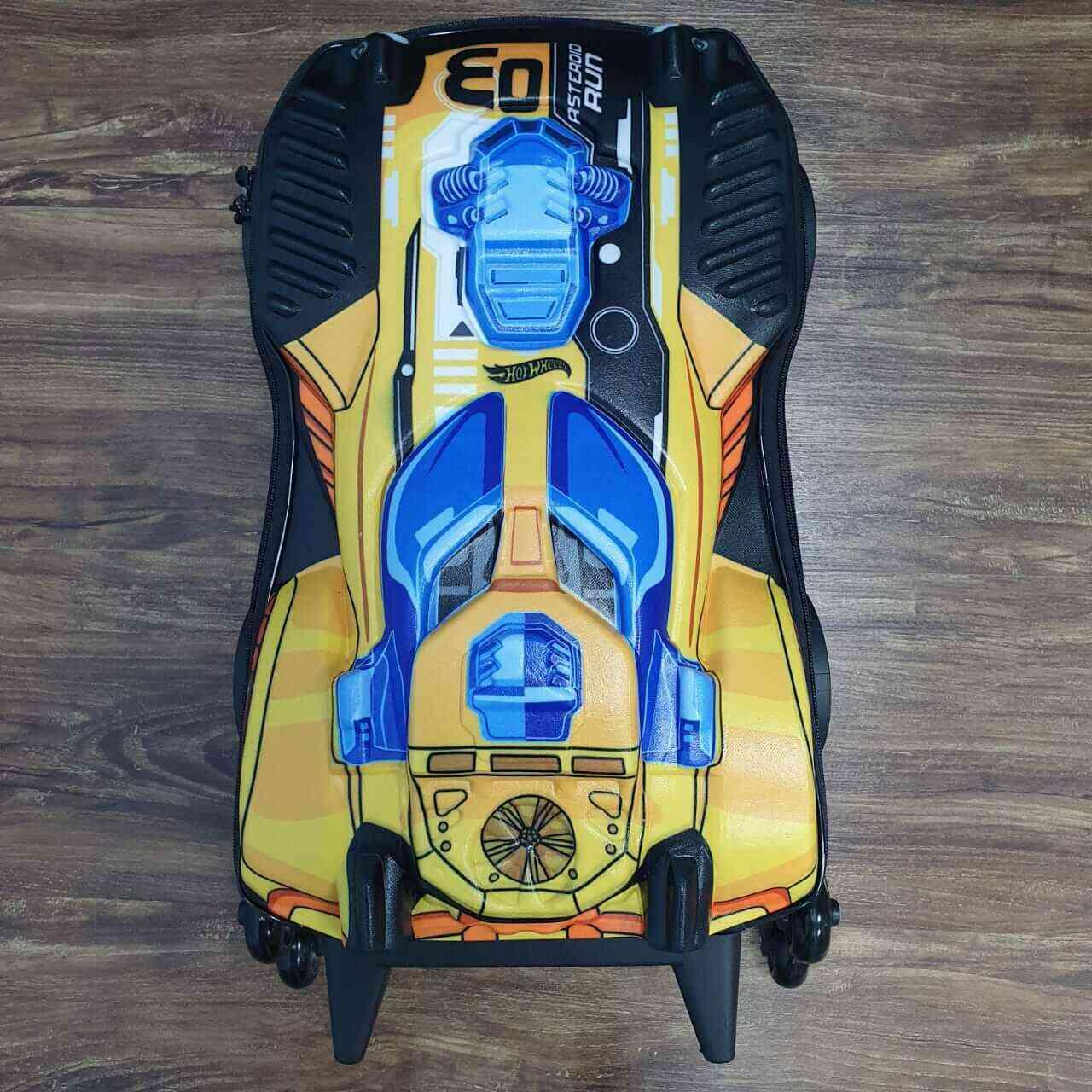 Mochila 3D de Rodinhase Hot Wheels Dune Dourado Infantil