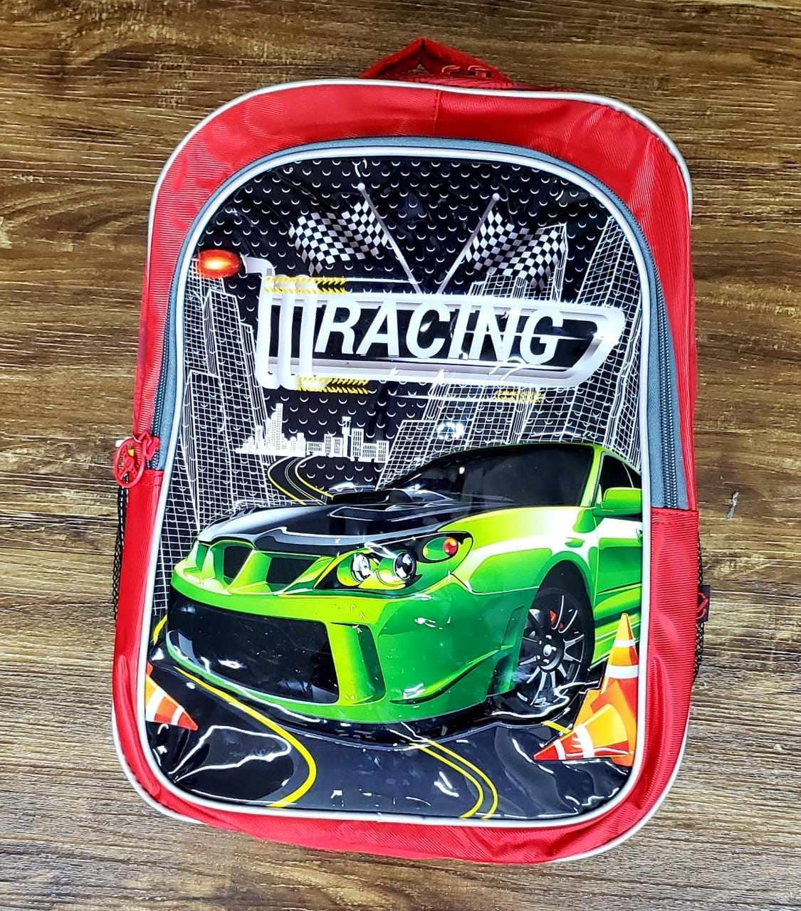 Mochila de Costas Carros Racing Vermelha