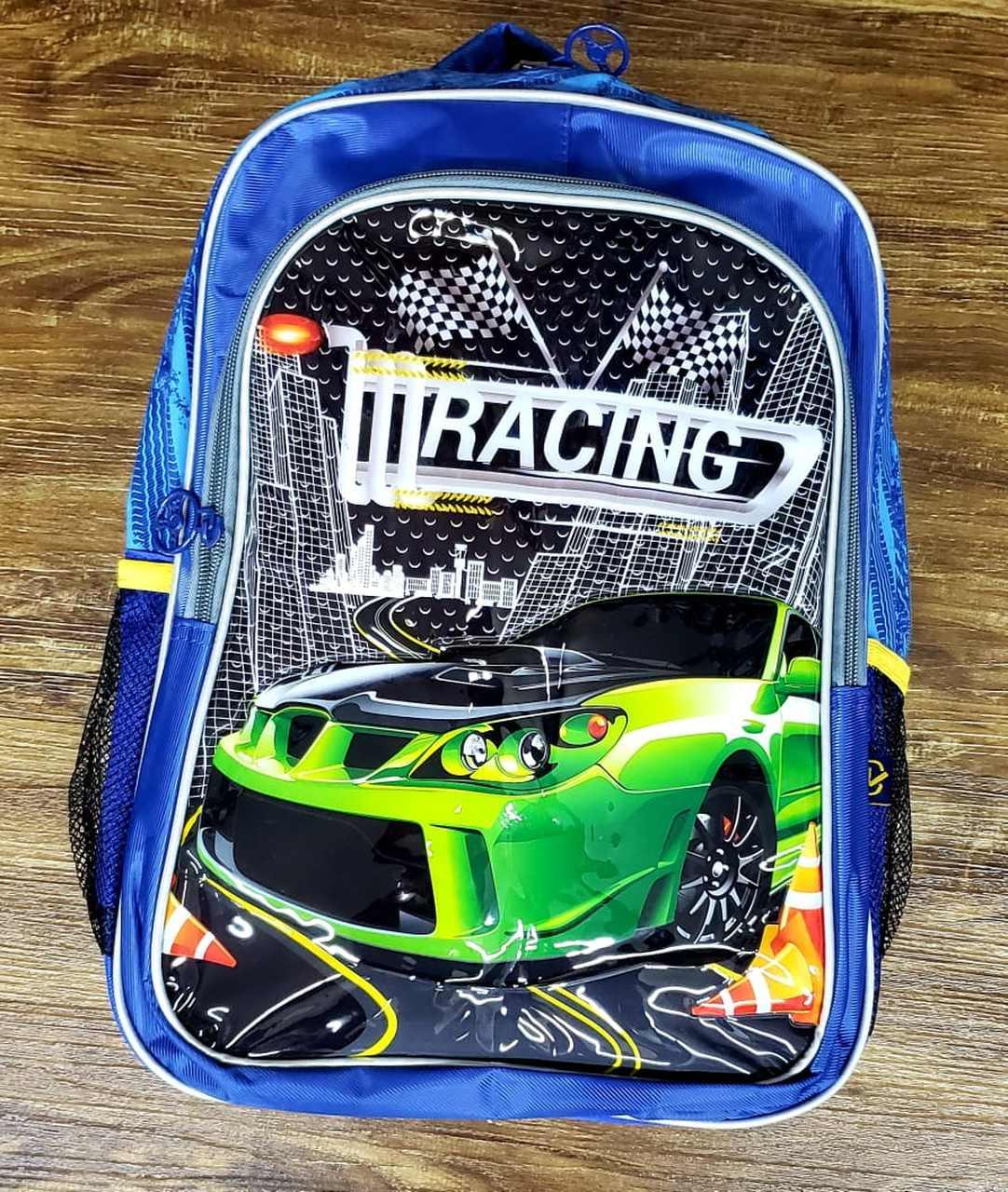 Mochila de Costas Carros Racing Azul