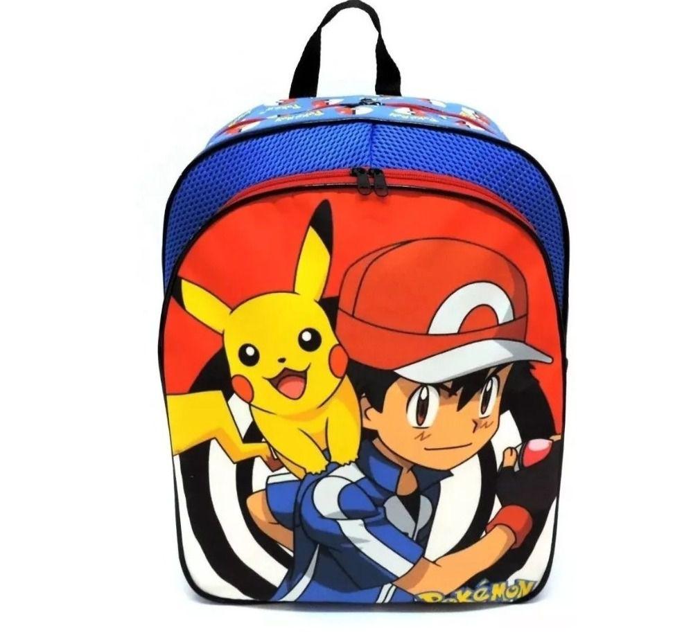 Mochila de Costas Pokémon com Lancheira e Estojo