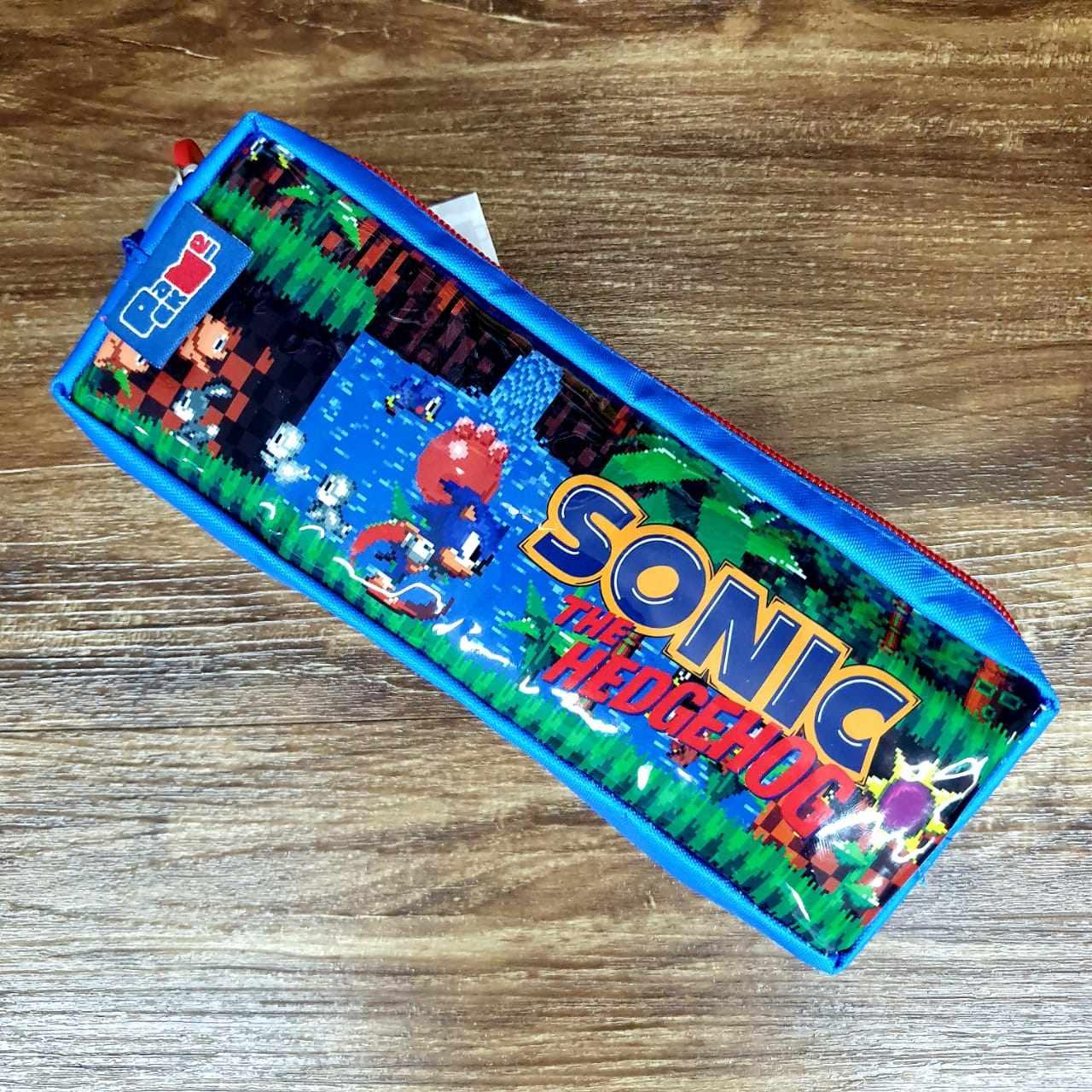 Mochila de Rodinhas com Lancheira e Estojo Sonic