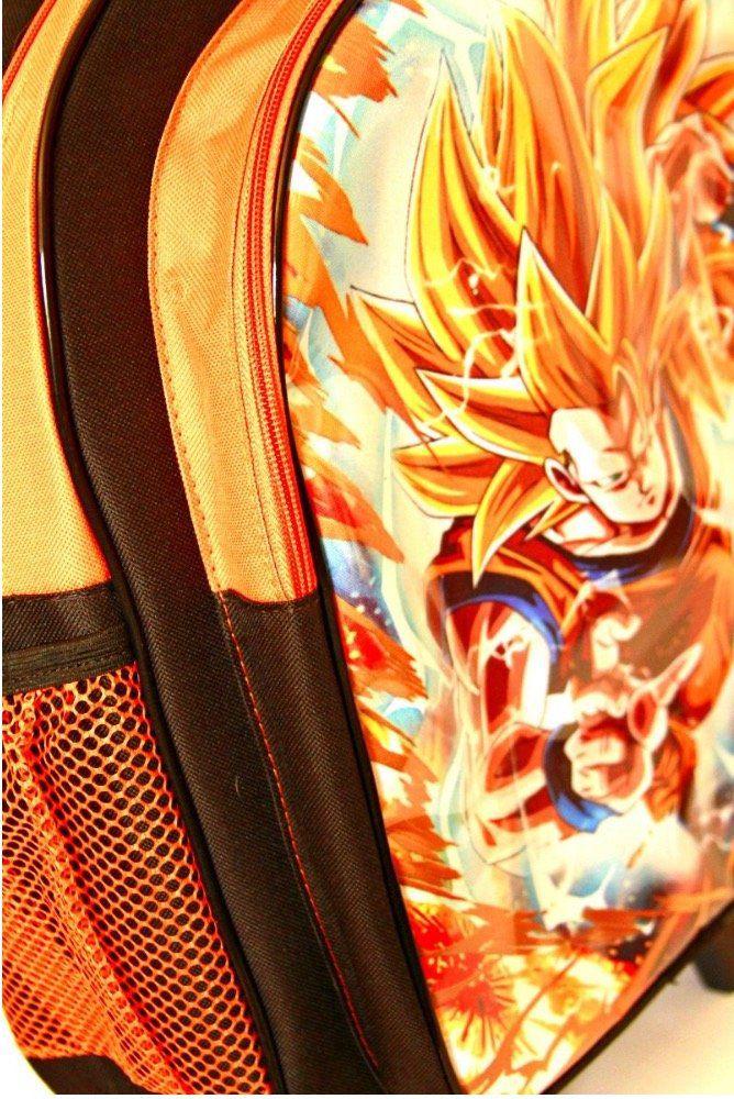 Mochila de Rodinhas Dragon Ball Z com Lancheira e Estojo