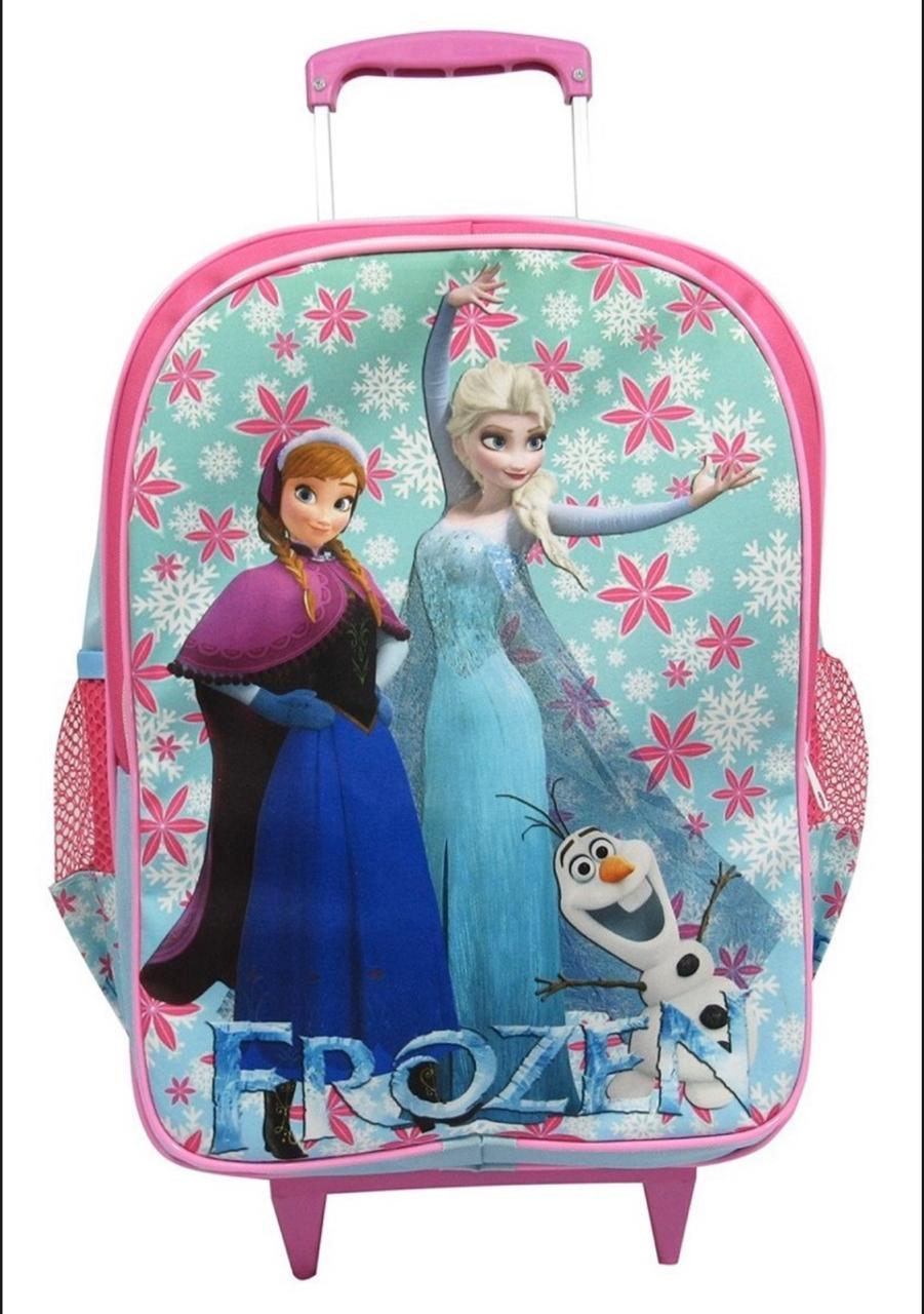 Mochila de Rodinhas Frozen com Lancheira e Estojo