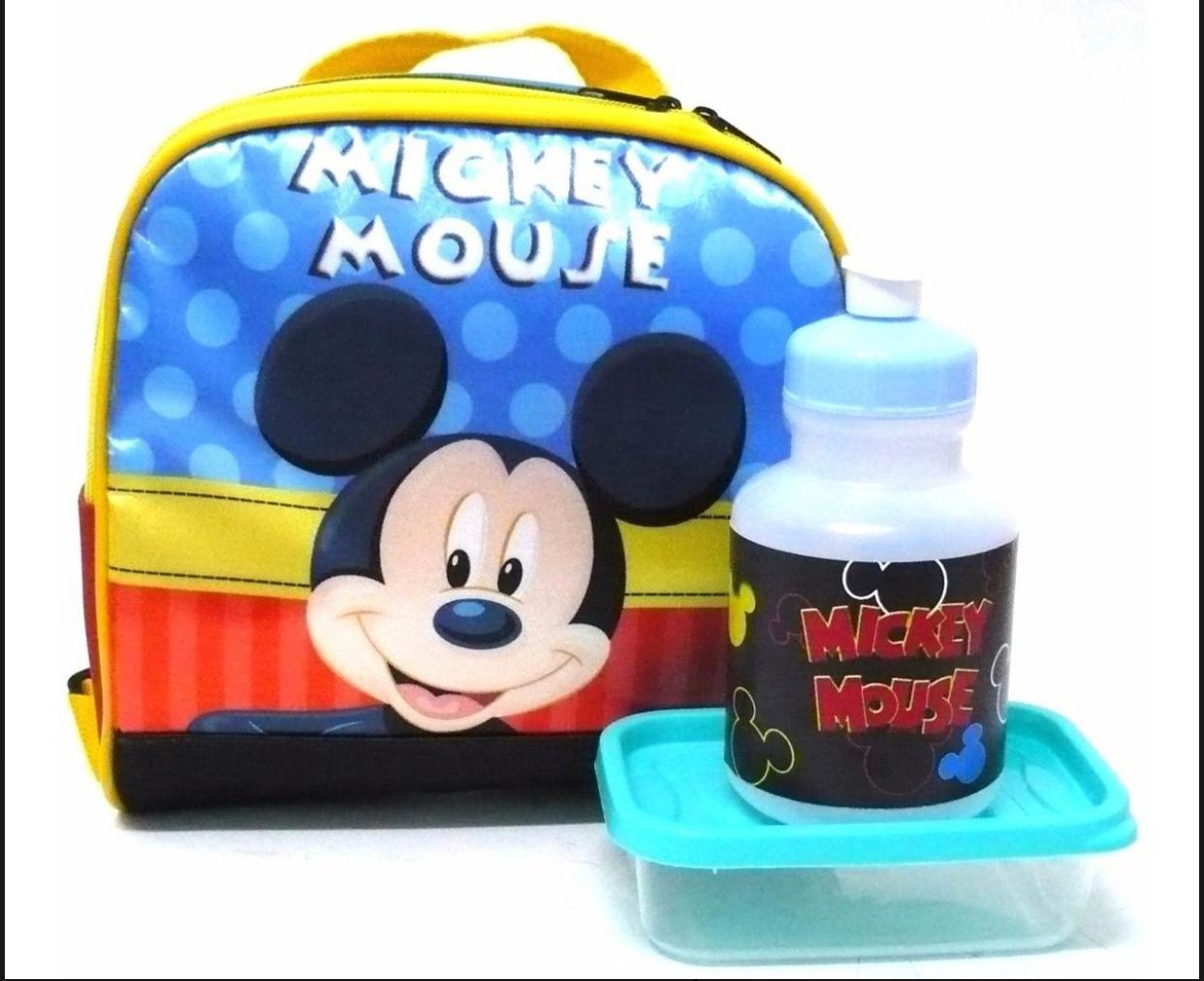 Mochila de Rodinhas Mickey com Lancheira e Estojo