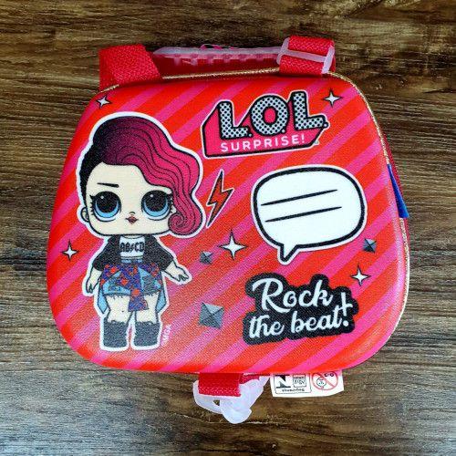 Mochila Escolar LOL Rocker 3D com Rodinhas e Lancheira MaxToy