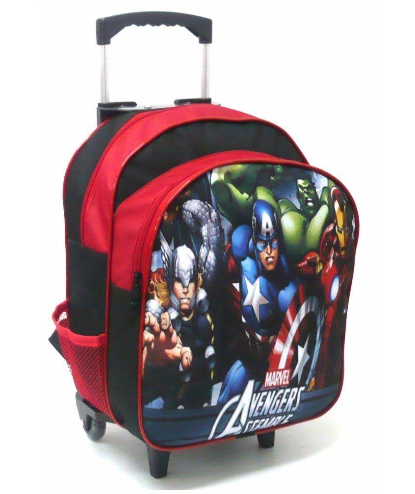Mochila Rodinha com Lancheira e Estojo Avengers