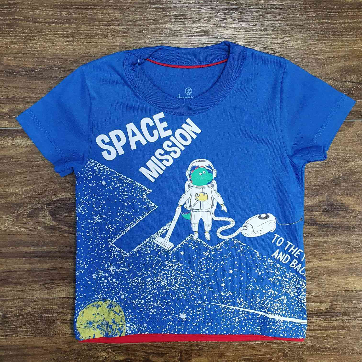 Pijama Azul Space Mission Infantil
