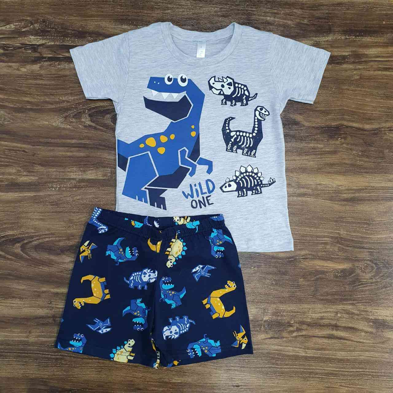 Pijama Dinossauro Wild Infantil