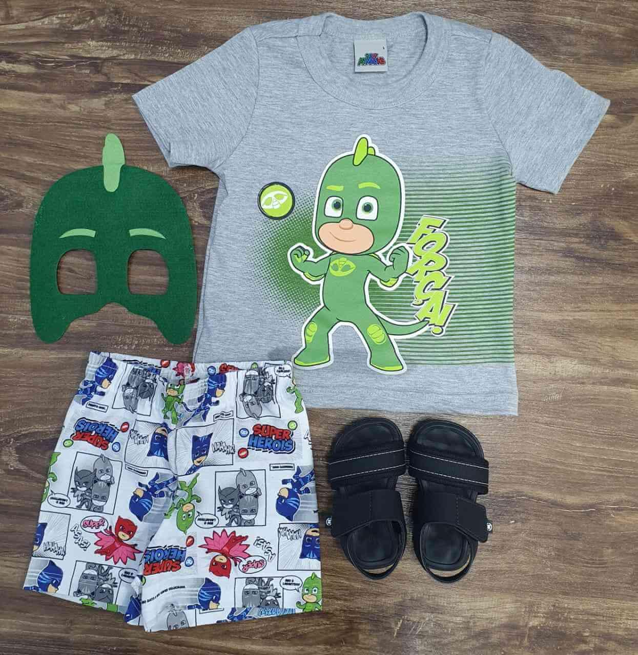 Pijama PJ Masks Lagartixo Infantil