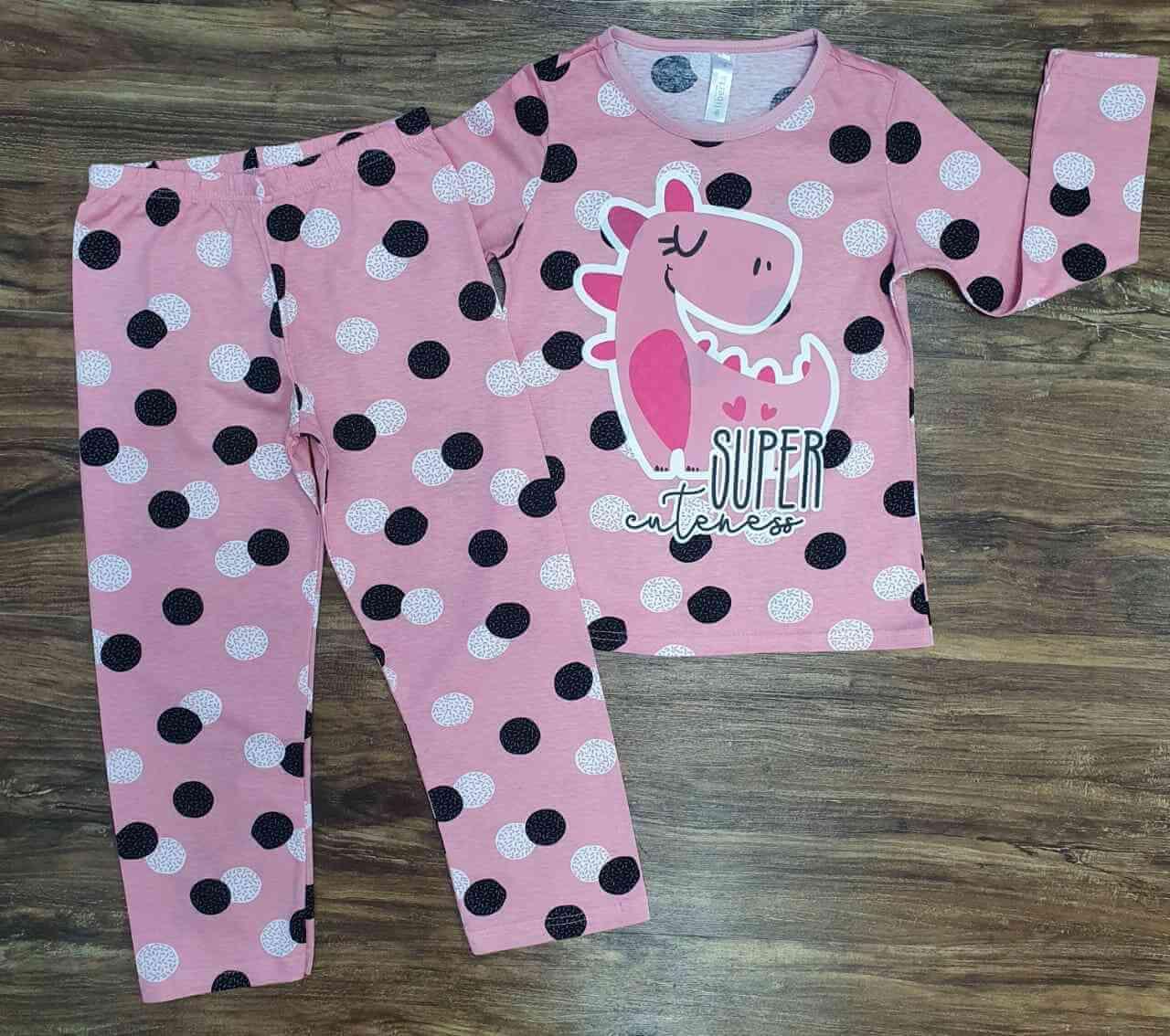 Pijama Super Cuteness Rosa Infantil