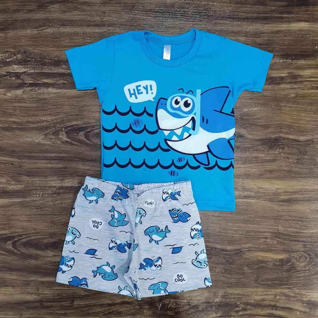 Pijama Tubarão Infantil