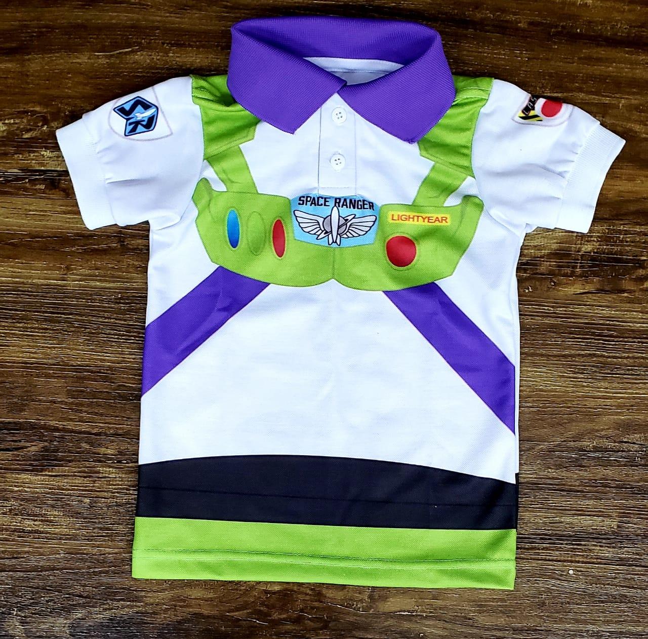 Polo Buzz Lightyear - Toy Story Infantil