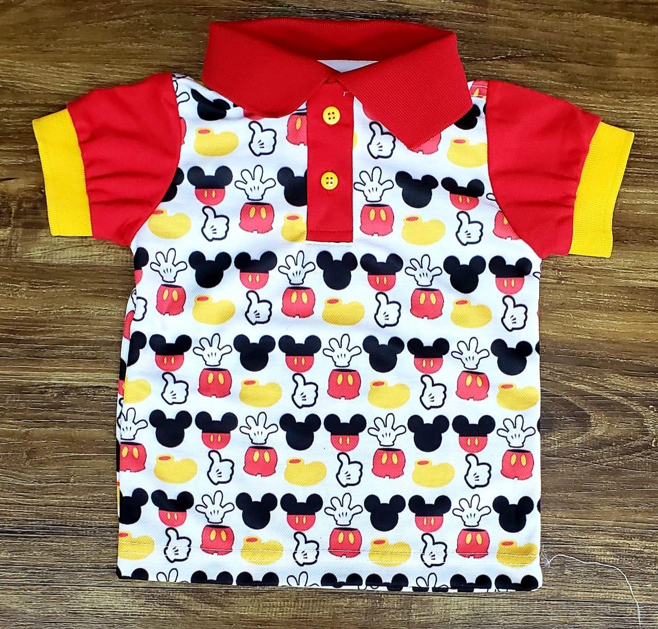 Polo Mickey Tradicional Infantil