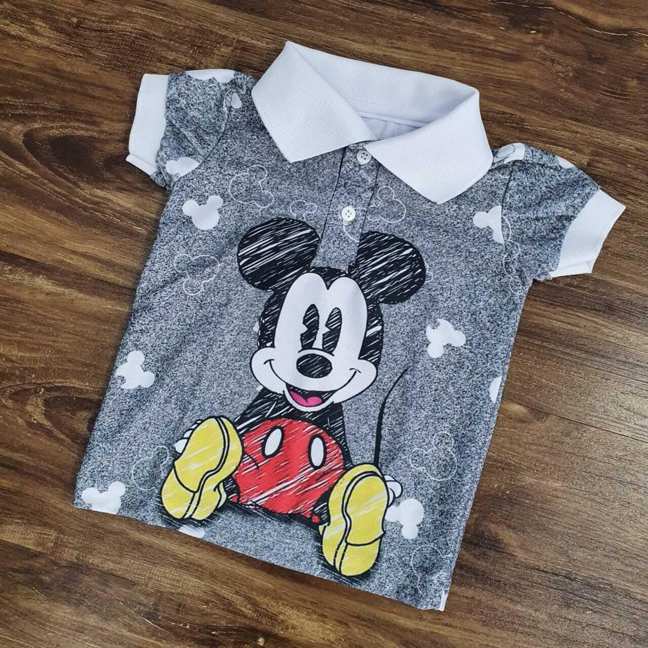 Polo Cinza Mickey