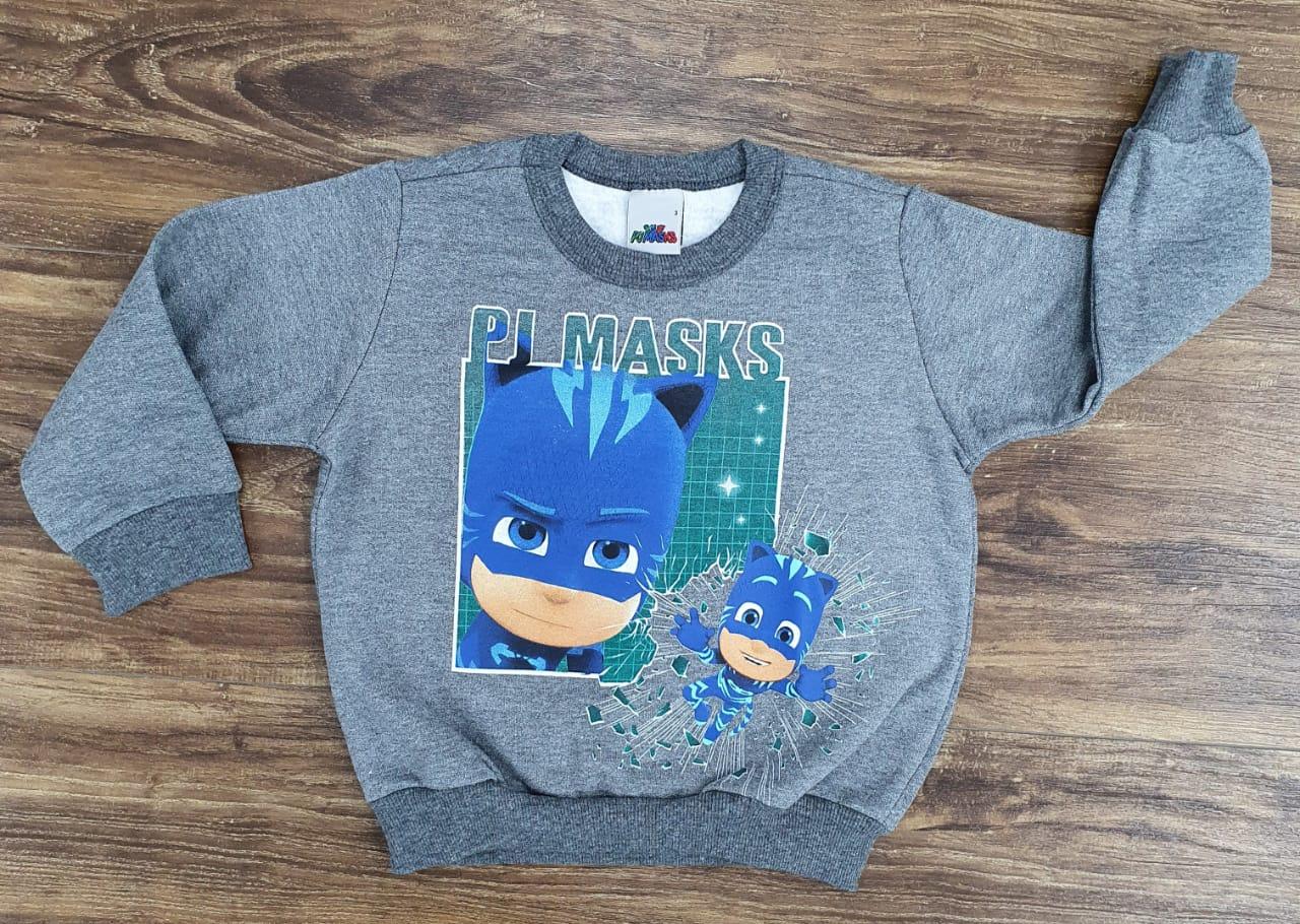 Roupa Blusa Moletom PJ Masks