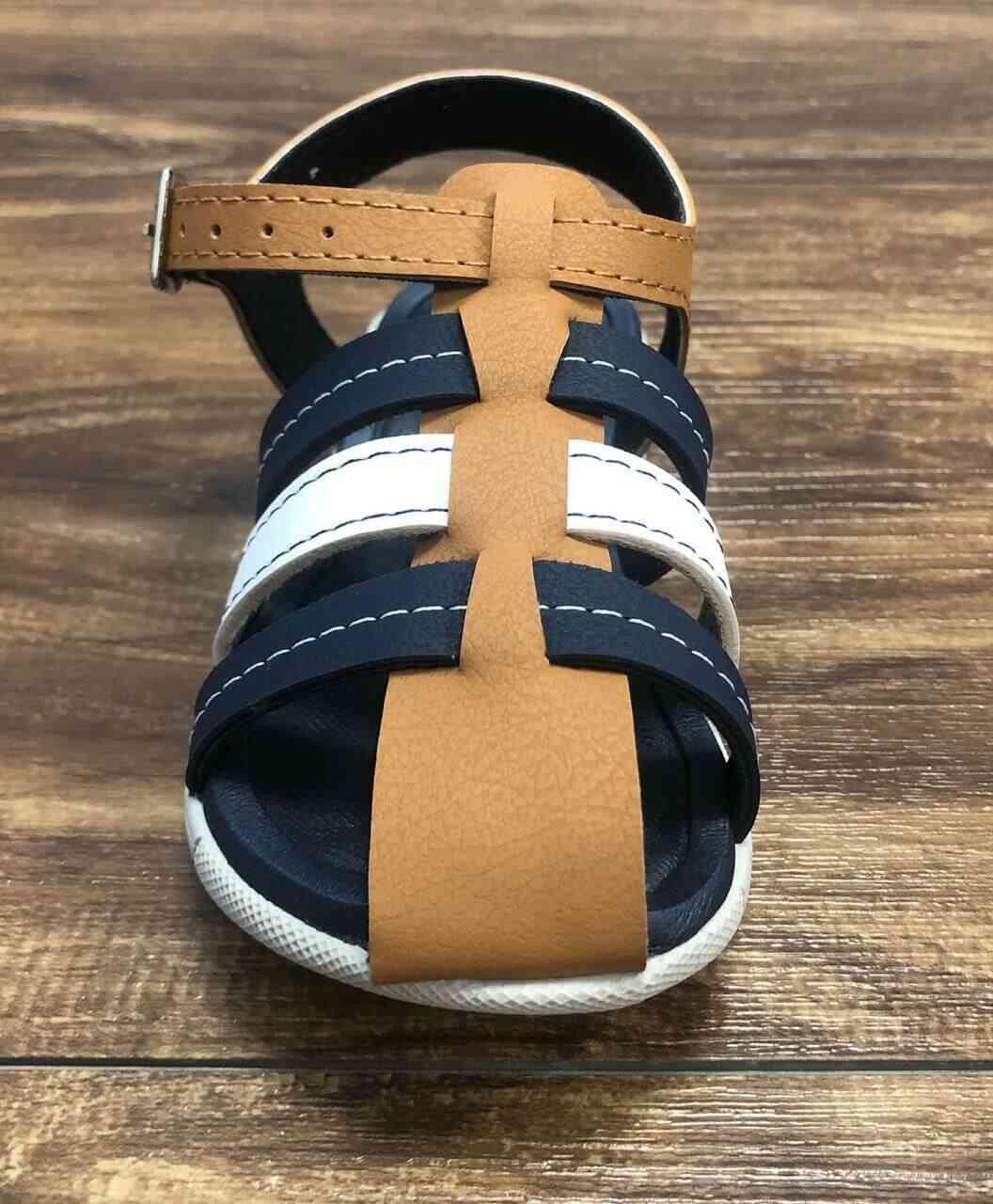 Sandalia Azul Marinho com Caramelo Infantil