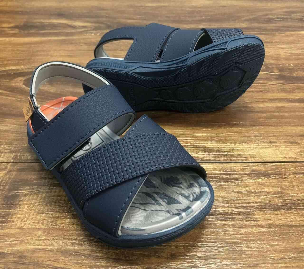 Sandalia Azul Marinho Cruzada Infantil