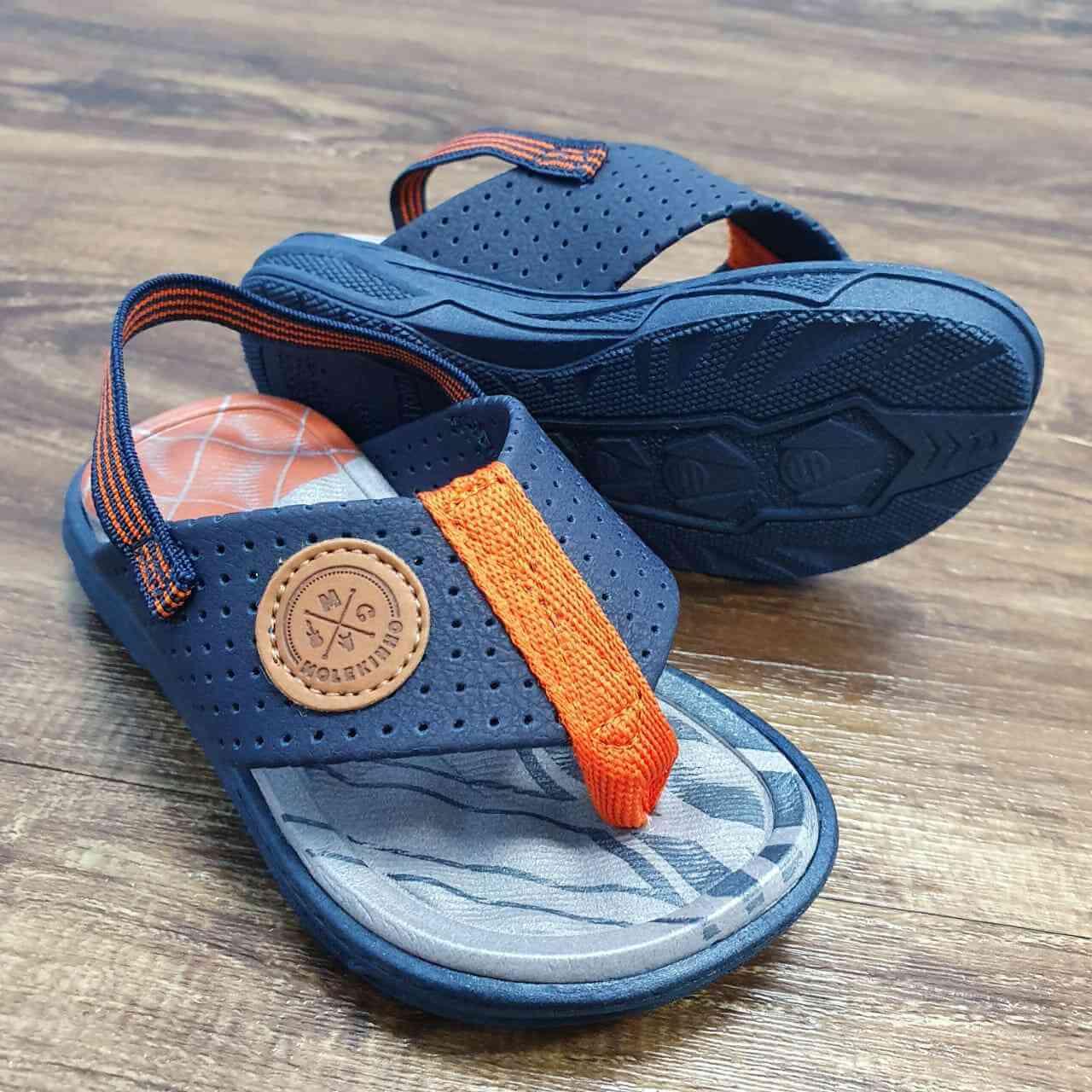 Sandália de Dedo Azul Marinho Infantil