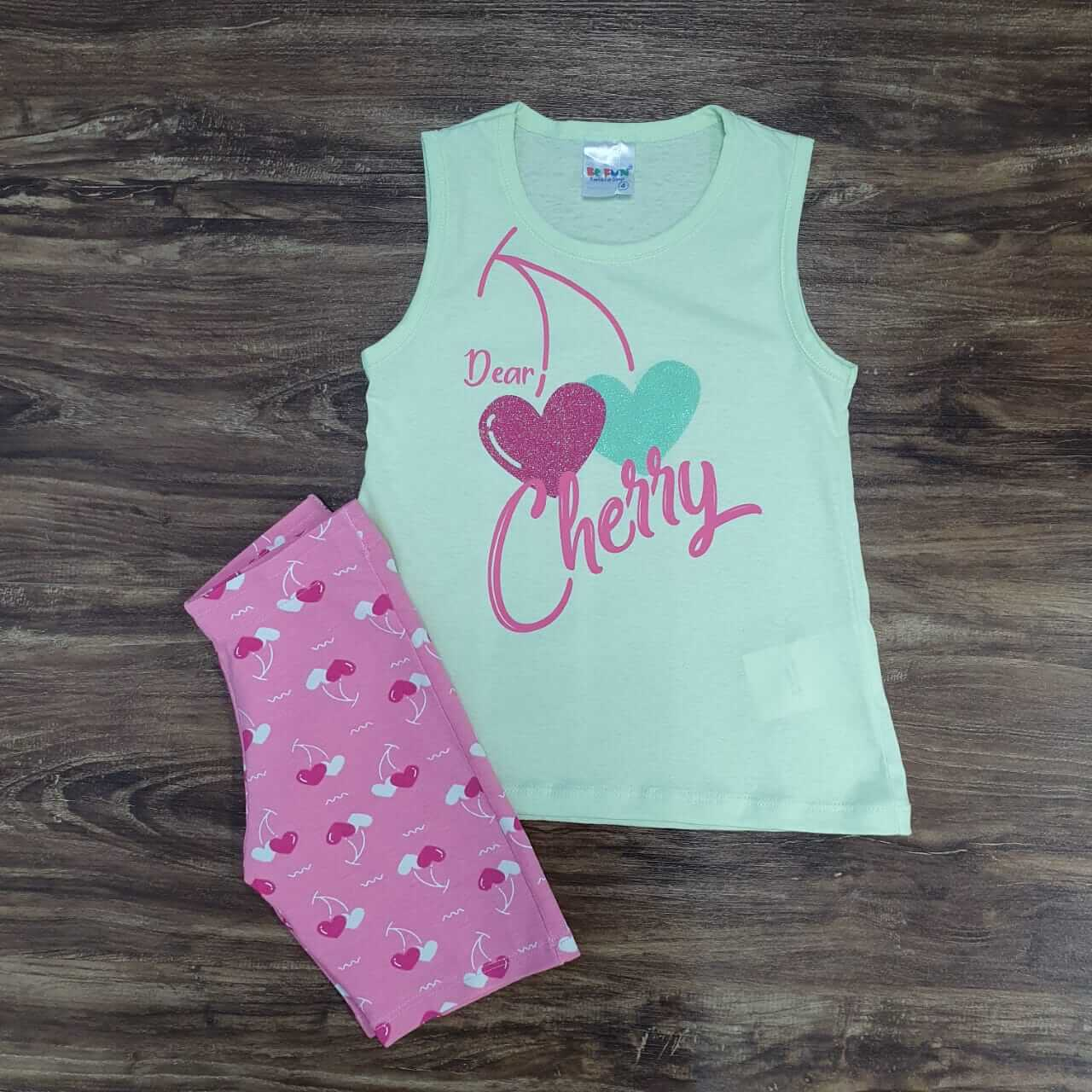 Shorts com Regata Cherry Infantil